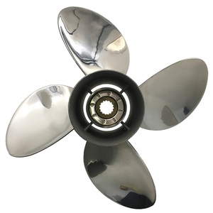 13 x 19 4 Blades Stainless Steel Propeller For Yamaha Outboard Engine 50-130HP