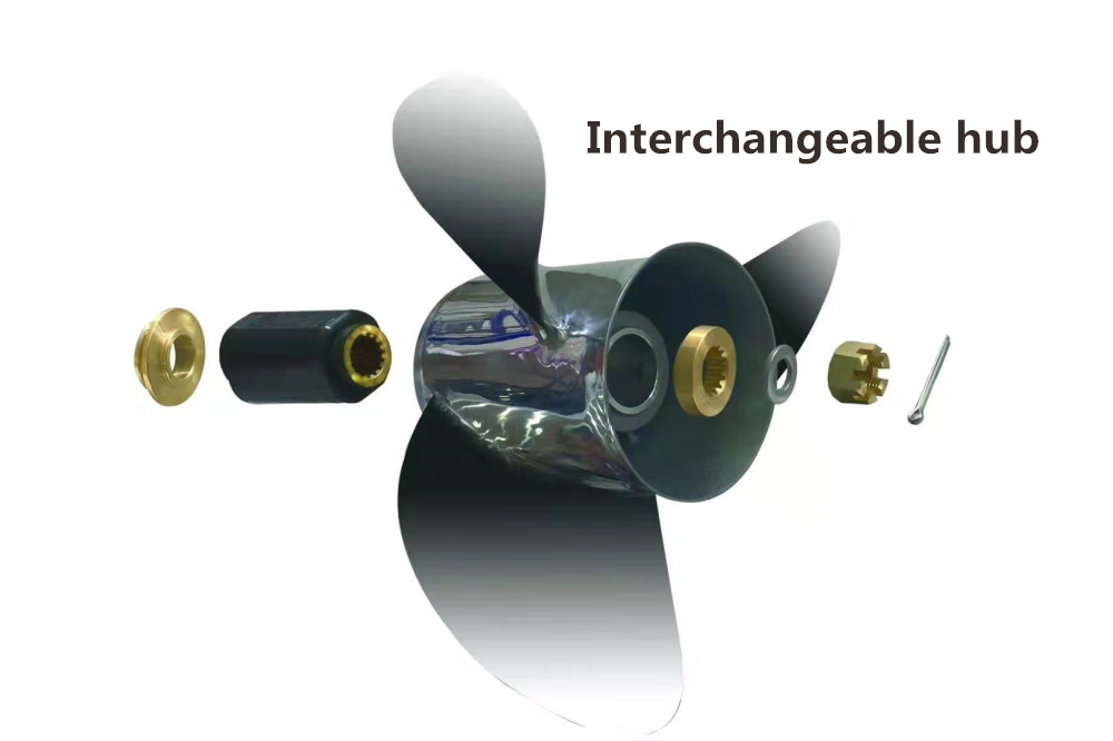 China Factory High Performance Interchangeable Hub Kits Propellers for Yamaha Outboard